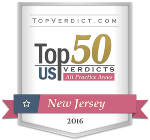 Top 50 Verdicts New Jersey 2016 - Badge