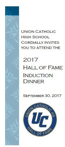Vito Gagliardi Hall of Fame Induction- Sept 2017